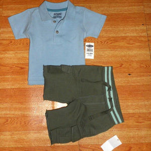 NWT Boys Size 6-12 Months Old Navy 2pc Outfit